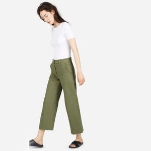 Everlane The Wide Leg Crop Pant in Surplus Size 10